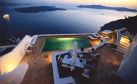Swimming Pool in Sunset